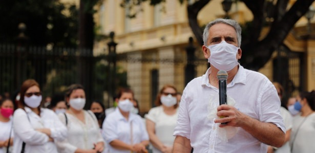 Protesto, Escolas, Volta Aulas, Educação, Presenciais, Palácio, Alunos, Coronavírus, Covid, Covid-19, Novo Coronavírus.
