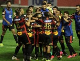 Gol do Sport feito por Barcia no jogo entre o Sport e o Goiás válido pela oitava rodada do campeonato brasileiro de futebol serie A, na Ilha do Retiro em Recife, Pernambuco.