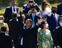O presidente Jair Bolsonaro, ministros e autoridades participam de cerimônia comemorativa do 7 de Setembro, no Palácio da Alvorada.