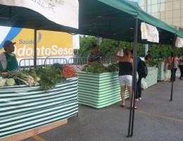 Feira Agroecológica do RioMar (foto anterior à pandemia da covid-19)