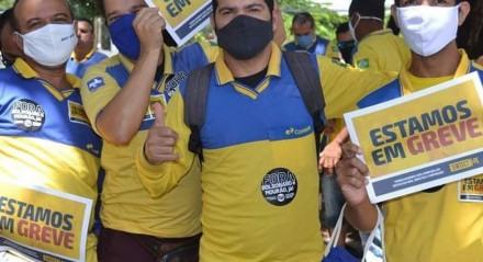 Funcionários dos Correios em greve no Estado de Pernambuco