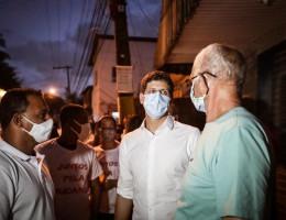 Candidato a prefeito do Recife, João Campos (PSB), visita a Comunidade Córrego da Fortuna