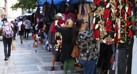 Comércio ambulante no centro de São Paulo