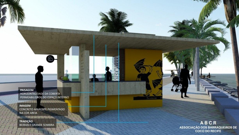 Veja como vão ficar os novos quiosques da Praia de Boa Viagem, cartão-postal do Recife