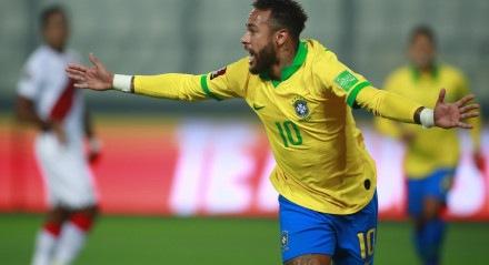 Brasil venceu o Peru com três gols de Neymar