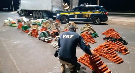 O carregamento saiu da cidade de Ponta Porã, no Mato Grosso do Sul