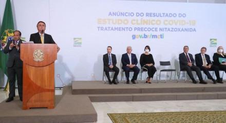(Brasília  - DF, 19/10/2020)  Cerimônia de Anúncio do Resultado do Estudo Clínico Covid-19 MCTI. Foto: Isac Nóbrega/PR