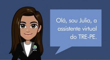 Julia, novo chatbot do TRE-PE que se comunica com o eleitor para tirar dúvidas