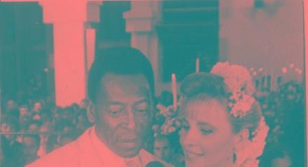 Pelé, casamento com Assíria Seixas Lemos