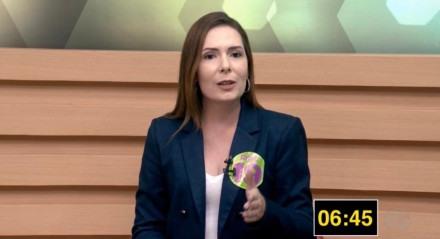 A candidada pelo Podemos foi entrevistada na TV Jornal