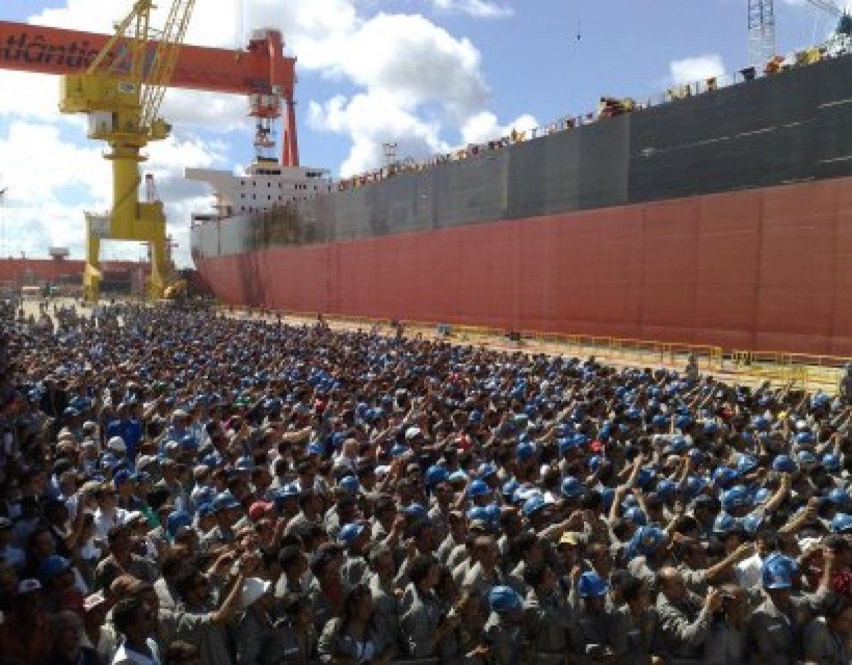 Trabalhadores têm R$ 10,1 milhões a receber do Estaleiro Atlântico Sul