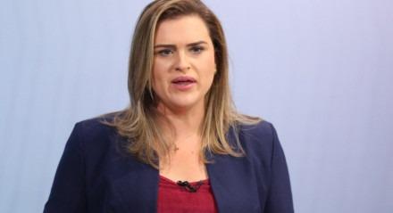 Marília Arraes, candidata a prefeita do Recife, no Debate da TV Jornal