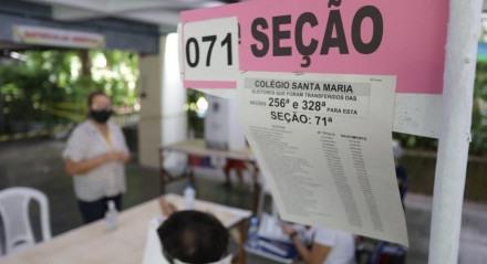 Movimentação dos eleitores nas seções eleitorais do Grande Recife