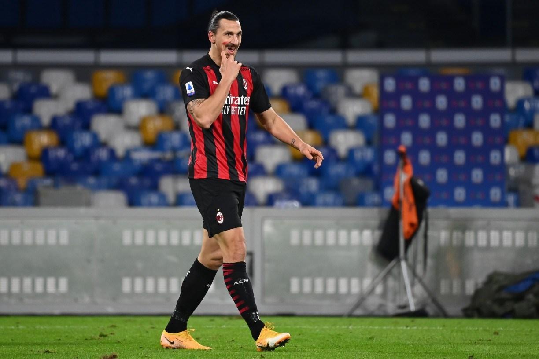 Milan vence Napoli com dois gols de 'Ibra' e reassume liderança da Serie A
