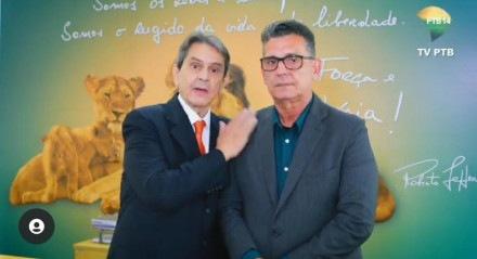 Presidente nacional do PTB, Roberto Jefferson e Coronel Meira, que deve liderar o partido em Pernambuco
