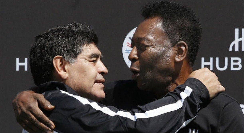 Pelé comemora homenagem a Maradona na Copa América
