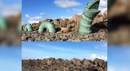 Serpente foi roubada do Parque das Esculturas