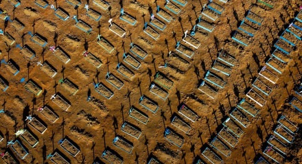 Oficialmente, Brasil acumula 190,5 mil mortes