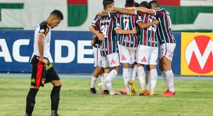 Fluminense e Sport jogaram no Engenhão, no Rio.