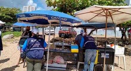 Fiscalização das praias de Jaboatão dos Guararapes