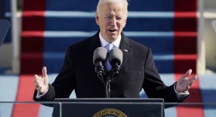 Joe Biden falou por pouco mais de 20 minutos em sua posse