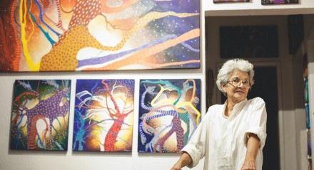 Elas Pintam o 7 - Ana Veloso, que também é a curadora da mostra