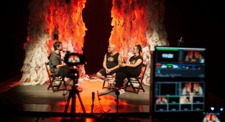 Solar Núcleo de Teatro em uma apresentação realizada em uma edição presencial do Festival de Artes Cênicas de Bauru