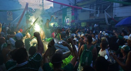 Muito emocionados com o título, torcedores do Palmeiras ganharam às ruas em São Paulo.