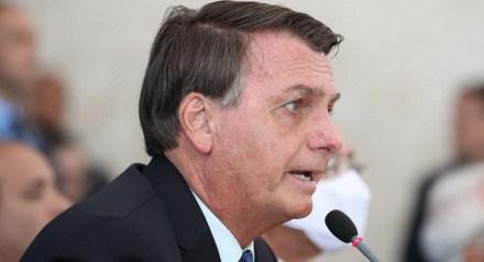 Jair Bolsonaro, presidente do Brasil, durante coletiva de imprensa