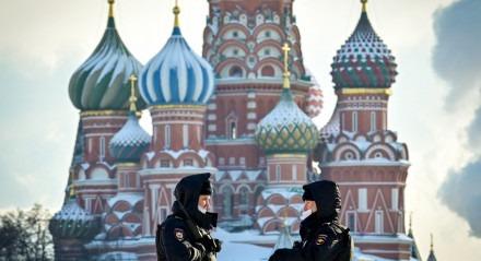 Catedral de São Basílio, na Praça Vermelha, em Moscou, na Rússia