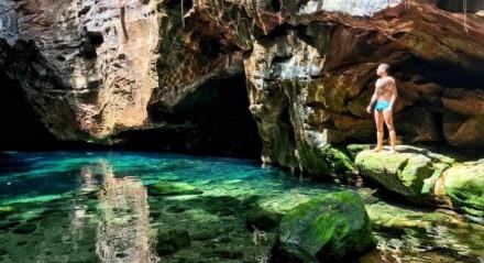 A beleza do Poço Azul, da Chapada das Mesas, no Maranhão