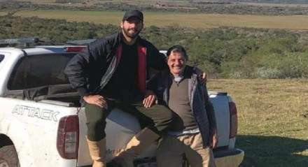 Alisson e o pai, José Becker