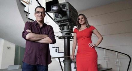 Aroldo Costa e Anne Barreto, apresentadores do SJCC