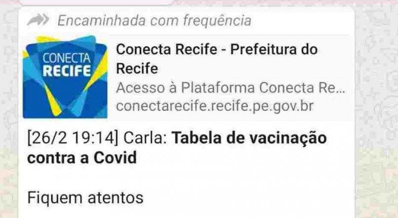 Calendário de vacinação falso circula em redes sociais no Recife
