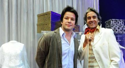 Murilo Benício e Alexandre Borges eram estilistas rivais no remake de 'Ti-Ti-Ti'