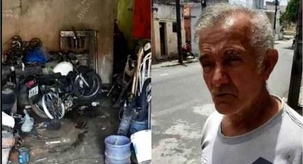 Lourival Feitosa, 62, é apelidado carinhosamente de lixão por Juliette