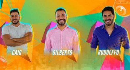 Caio, Gilberto e Rodolffo estão no paredão desta semana