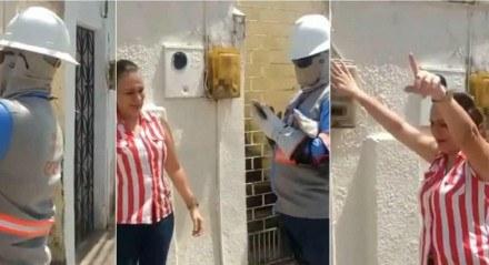 Mulher impede corte de energia na casa de tio internado com o novo coronavírus.