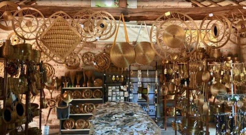 O artesanato do capim dourado é uma das riquezas do Jalapão