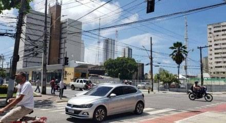 Semáforo apagado em Santo Amaro, Centro do Recife