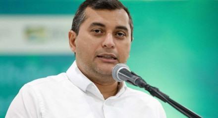 (Manaus-AM, 23/04/2021) Palavras do Governador do Amazonas, Wilson Lima. Foto: Alan Santos/PR