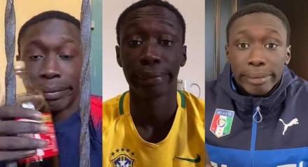 Khabane Lame tiktoker italiano conquistou o mundo com suas reações a tutoriais mirabolantes