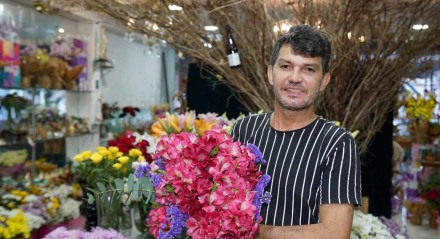 Maciel Dias, da floricultura Maciel Flores, parceira do JC Clube