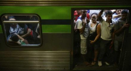 metrô e chuva