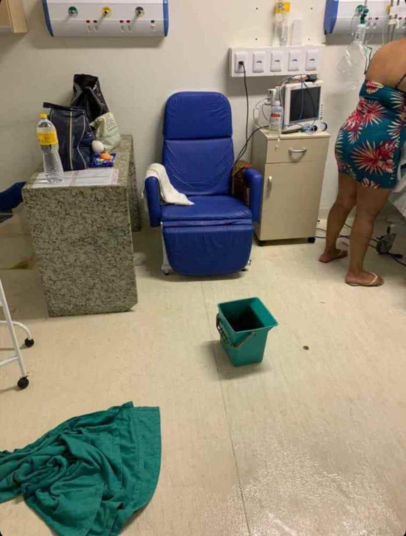 Chuva abala parte de estrutura do Hospital Barão de Lucena, e pacientes foram transferidos por risco de teto desabar