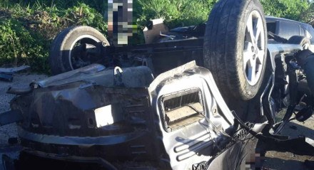 Acidente na BR 232, em Jaboatão dos Guararapes, no dia 16 de maio de 2021