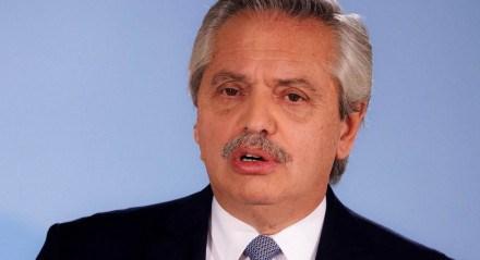Presidente da Argentina, Alberto Fernandez, anunciou as novas medidas em um pronunciamento na televisão