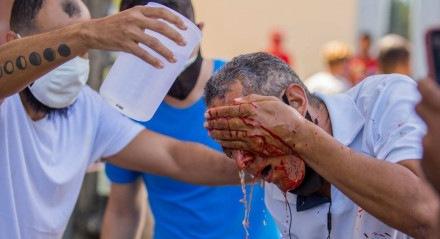 Uma dos feridos é o adesivador Daniel Campelo da Silva, 51 anos