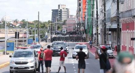 Manifestação acabou com confronto com a Polícia Militar de Pernambuco