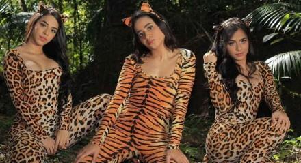 Mc Loma e as Gêmeas Lacração na gravação do clipe da música Predadora